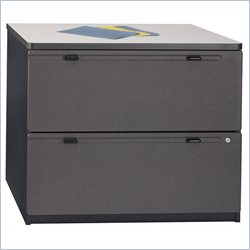 Bush BBF Series A 36W 2Dwr Lateral File (Assembled) in Slate