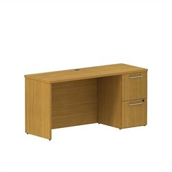 Bush BBF 300 Series 60W x 22D Single Pedestal Credenza Kit in Modern Cherry