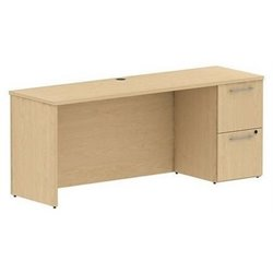 Bush BBF 300 Series 66W x 22D Single Pedestal Credenza Kit in Natural Maple