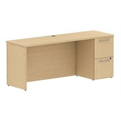 Bush BBF 300 Series 72W x 22D Single Pedestal Credenza Kit in Natural Maple