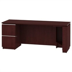 Bush BBF Milano2 72W LH Single Pedestal Credenza 2Dwr in Harvest Cherry