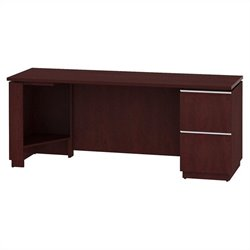 Bush BBF Milano2 72W RH Single Pedestal Credenza 2Dwr in Harvest Cherry
