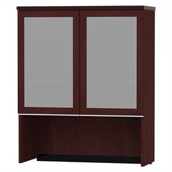 Bush BBF Milano2 36W Bookcase Hutch with Glass Doors in Harvest Cherry