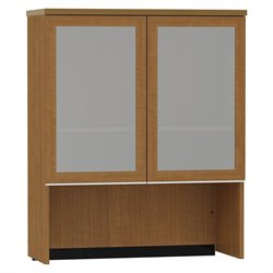 Bush BBF Milano2 36W Bookcase Hutch with Glass Doors in Golden Anigre