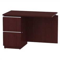 Bush BBF Milano2 42W LH Single Pedestal Return 2Dwr in Harvest Cherry