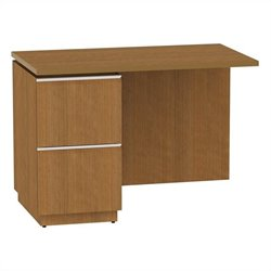 Bush BBF Milano2 42W LH Single Pedestal Return 2Dwr in Golden Anigre