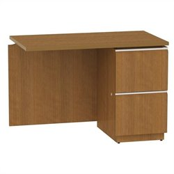 Bush BBF Milano2 42W RH Single Pedestal Return 2Dwr in Golden Anigre
