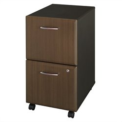 Bush Business Furniture Series A Pedestal (Assembled) in Sienna Walnut