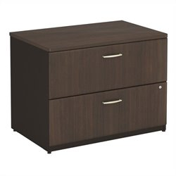 Bush BBF Series A 36W 2 Drawer Lateral File (Assembled) in Sienna Walnut