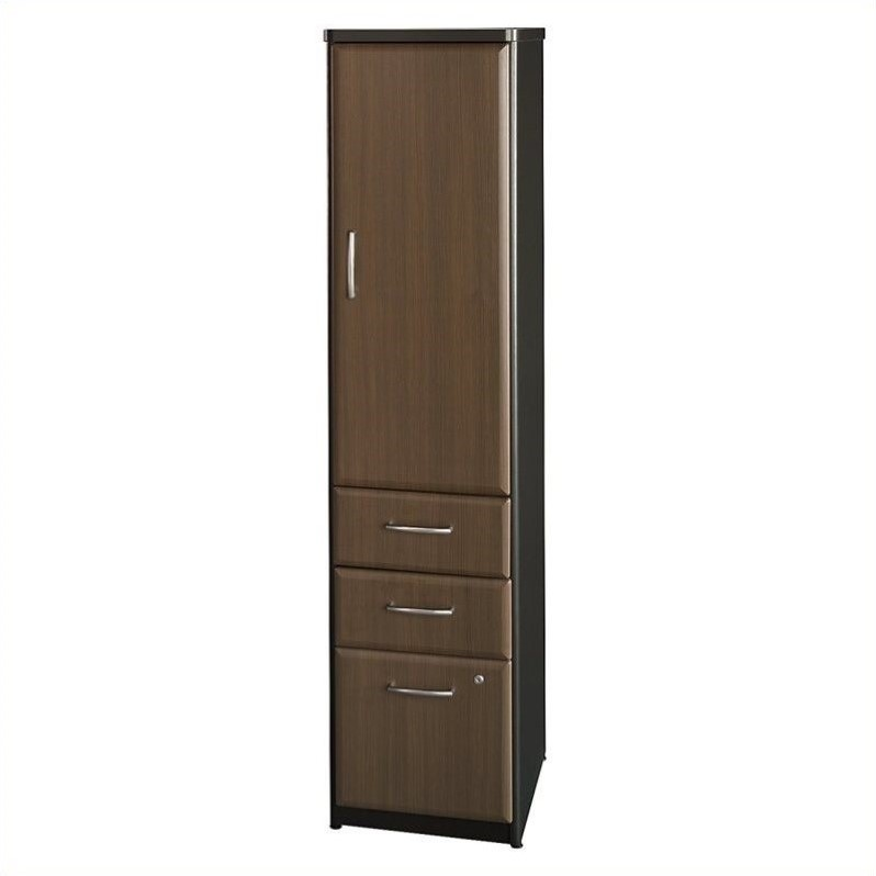 Bush Business Series A Locker (Assembled) in Sienna Walnut