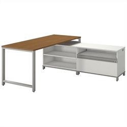 Bush BBF Momentum 72W X 30D Desk with24H Open Storage and 24H Piler Filer in Modern Cherry