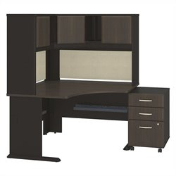 Series A Collection 48W x 48D Corner Desk with Hutch and 3Dwr Mobile Pedestal