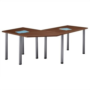 Bush Business Aspen Office Table Set in Hansen Cherry