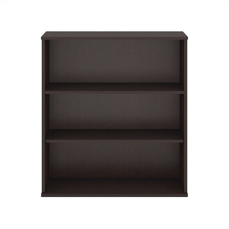 48H 3 Shelf Bookcase in Mocha Cherry - Engineered Wood