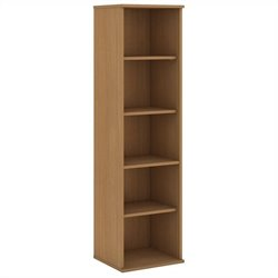Bush BBF 66H 5 Shelf Narrow Bookcase in Modern Cherry