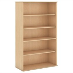 Bush Business Furniture 66H 5 Shelf Bookcase in Natural Maple