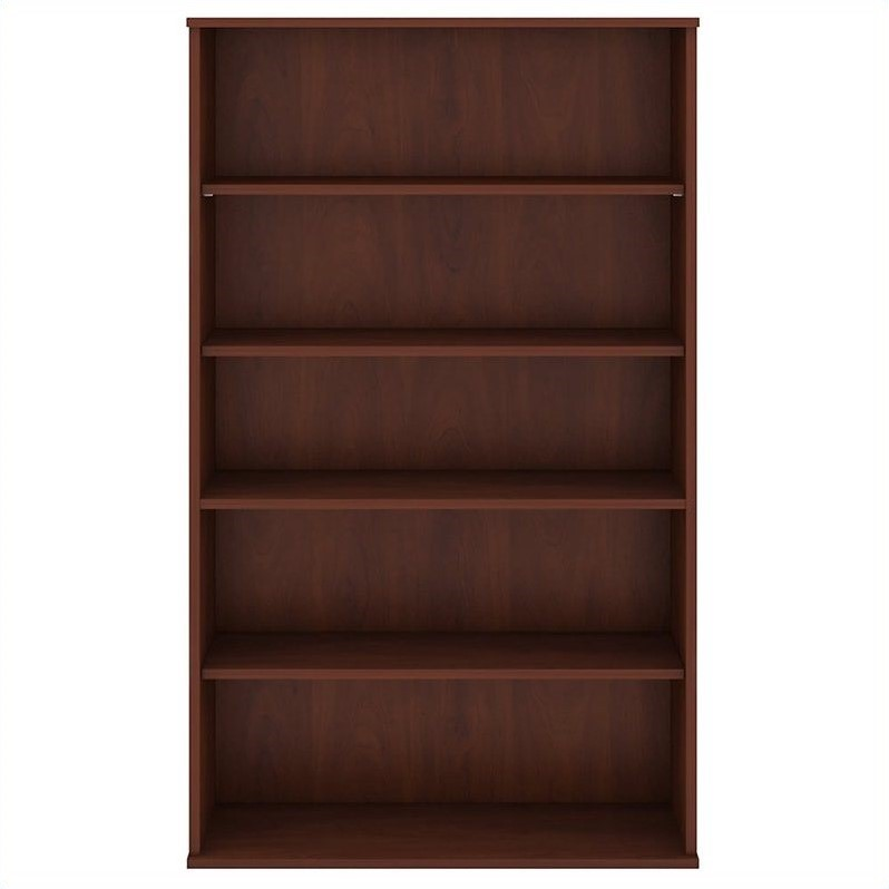 Bush Business Furniture 66H 5 Shelf Bookcase in Hansen Cherry