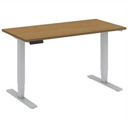 Bush BBF 48W x 24D Height Adjustable Table Kit in Modern Cherry