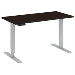 Bush BBF 48W x 24D Height Adjustable Table Kit in Mocha Cherry