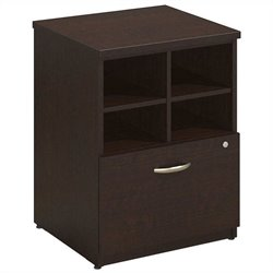 Bush BBF Series C Elite 24W Pedestal Piler-Filer in Mocha Cherry