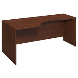 Bush BBF Series C Elite 72 x 24 to 36D Left Corner Desk Shell in Hansen Cherry
