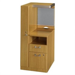 Bush BBF Quantum LH Storage Tower 2Dwr Kit in Modern Cherry