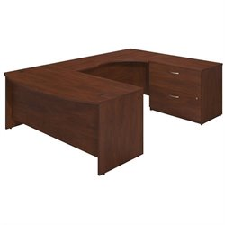 Series C Elite 72W x 36D Right Hand Bowfront U Station Desk Shell with Lateral File