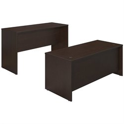 Series C Elite 72W x 30D Desk Shell with Standing Height Credenza