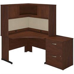 Bush BBF Series C Elite C Leg Corner Computer Desk in Hansen Cherry