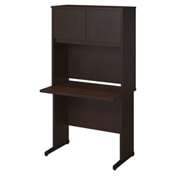 Bush BBF Series C Elite 36W x 24D C Leg Computer Desk in Mocha Cherry