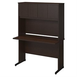 Bush BBF Series C Elite 48W x 24D C Leg Computer Desk in Mocha Cherry