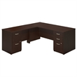 Series C Elite 72W L Desk with 2 and 3 Drawer Pedestals in Cherry