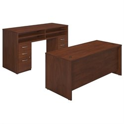 Bush BBF Series C Elite 72W x 30D Standing Office Set in Hansen Cherry
