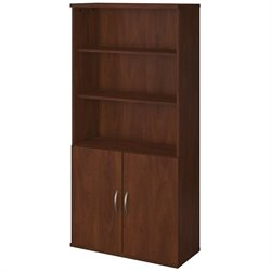 Bush BBF Series C Elite 36W Bookcase with Doors in Hansen Cherry