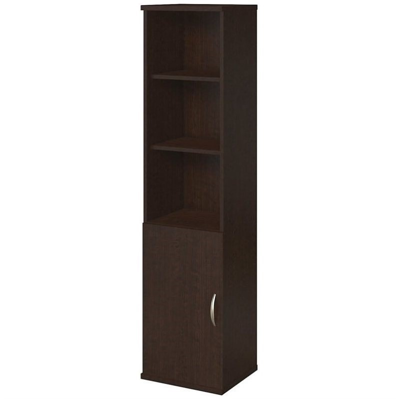 Bush Business Series C Elite 18W Bookcase with Doors in Mocha Cherry