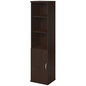 18W 5 Shelf Bookcase with Doors