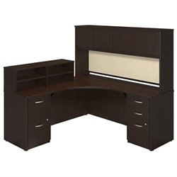 Bush BBF Series C Elite 42W x 42D L Corner Desk in Mocha Cherry