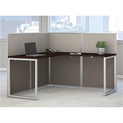 Bush BBF Easy Office L Shaped Wood Computer Desk in Mocha Cherry