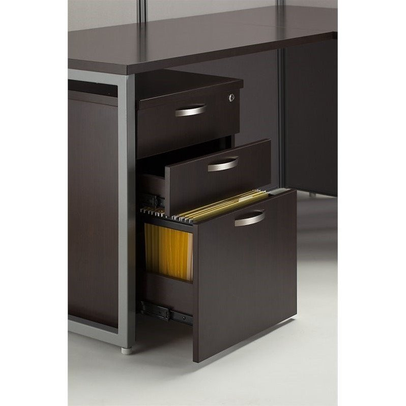 Bush Business Furniture Easy Office 3 Drawer Mobile Filing Cabinet