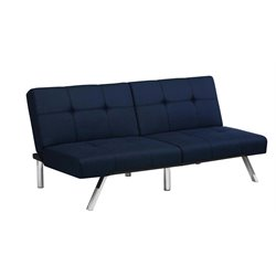 Linen Convertible Sofa in Navy Blue