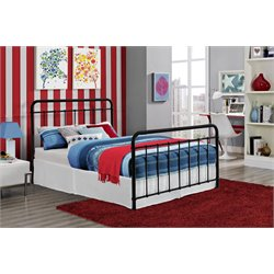 Iron Full Bed in Black