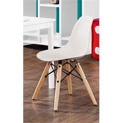 Molded Wood Leg Chair in White