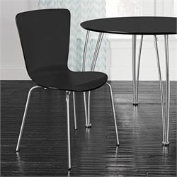 Dining Chairs in Black (Set of 2)