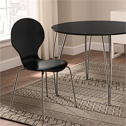 Shell Dining Chairs in Black (Set of 2)