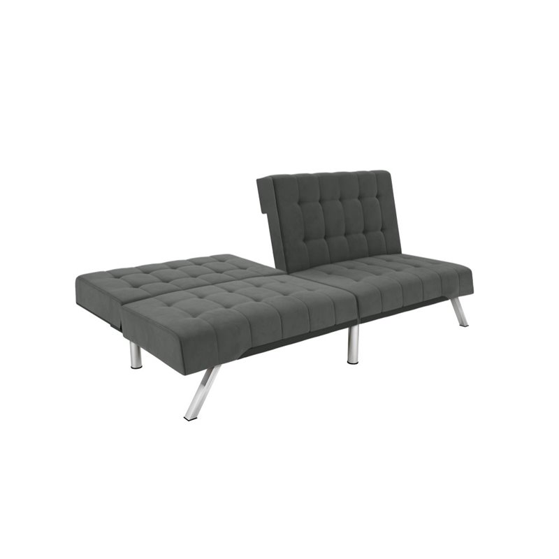 DHP Emily Convertible Sleeper Sofa in Gray