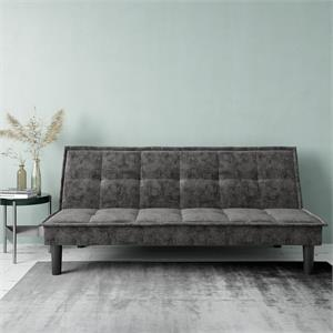 DHP Oscar Memory Foam Futon in Full Size Sofa Bed and Couch in Gray
