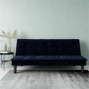 DHP Oscar Memory Foam Futon in Full Size Sofa Bed and Couch in Blue