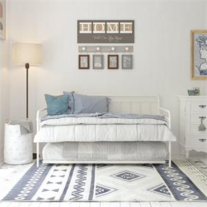DHP Winston Metal Daybed/Trundle in Twin White