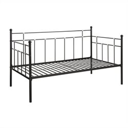 Metal Twin Daybed in Black