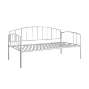 Metal Twin Daybed in White